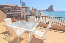 Apartment in Calpe / Calp - ACARIBEP-1ºlínea Playa-Wifi y Garaje Gratis.